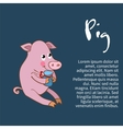 an isolated character pig vector image
