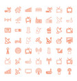 antenna icons vector image vector image