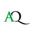 aq initials letter logo vector image vector image
