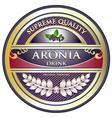 Aronia Drink Vintage Label vector image vector image