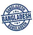 bangladesh blue round grunge stamp vector image vector image