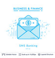 bank message symbol on white vector image vector image
