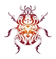 Beetle decorative tattoo vector image vector image