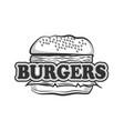 black burger logo image concept vector image