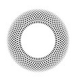 black ring mosaic on white background stylish vector image vector image