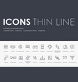 business communication thin line icons vector image
