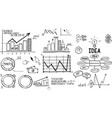 business finance elements hand-drawn vector image