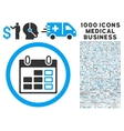 Calendar Week Icon with 1000 Medical Business vector image vector image