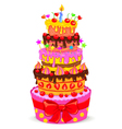 celebratory cake vector image vector image