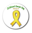 childhood cancer awareness cancer childrens day vector image vector image