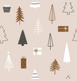 christmas season seamless pattern with fir trees vector image vector image