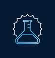 conical flask outline colored icon or vector image vector image
