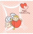 cupid cute card for Valentines Day vector image vector image