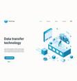 data transfer management internet technology vector image