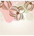Delicate pattern with pastel colored flowers vector image