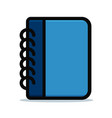 diary blue design icon vector image vector image