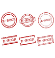 E-book stamps vector image
