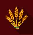 ears of wheat icon of for web vector image vector image