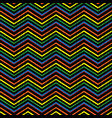 embroidery chevrons zigzag seamless pattern vector image