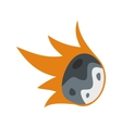 Falling meteor flat icon vector image vector image