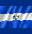 flag el salvador realistic icon vector image vector image