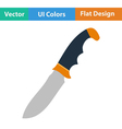 Flat design icon of hunting knife vector image