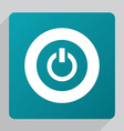 flat power on icon vector image