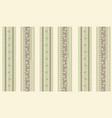 floral stripy seamless textile pattern flourish vector image