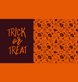 halloween banner with text and pattern vector image vector image