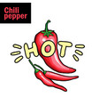 hot chili pepper flat vector image