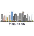 houston skyline usa city with color buildings vector image vector image
