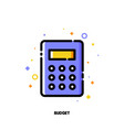 icon of calculator for business budget concept vector image