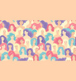 international women s day seamless pattern vector image vector image