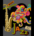 jazz music festival poster vector image vector image
