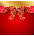 jewel bow red vector image