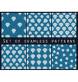 Jewelry Set of seamless patterns with diamonds vector image