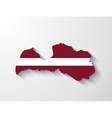 Latvia map with shadow effect vector image vector image