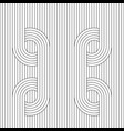 lines circle background vector image vector image