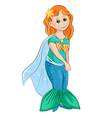 Little girl in the costume of mermaid vector image vector image