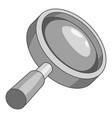 magnify icon monochrome vector image vector image