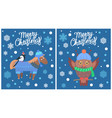 merry christmas collection vector image