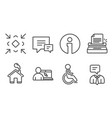 minimize typewriter and online education icons vector image