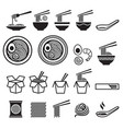noodle icons set vector image vector image
