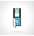 Office water dispenser black and blue icon vector image