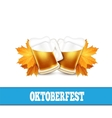 Oktoberfest Two beer mugs on vector image