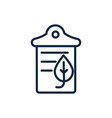 paper recycle ecology environment icon linear vector image