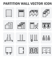 Partition icon vector image vector image