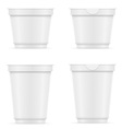 plastic container of yogurt or ice cream 10 vector image vector image