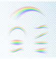 rainbow set in different shapes fantasy art vector image vector image