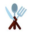 restaurant cutlery symbol vector image